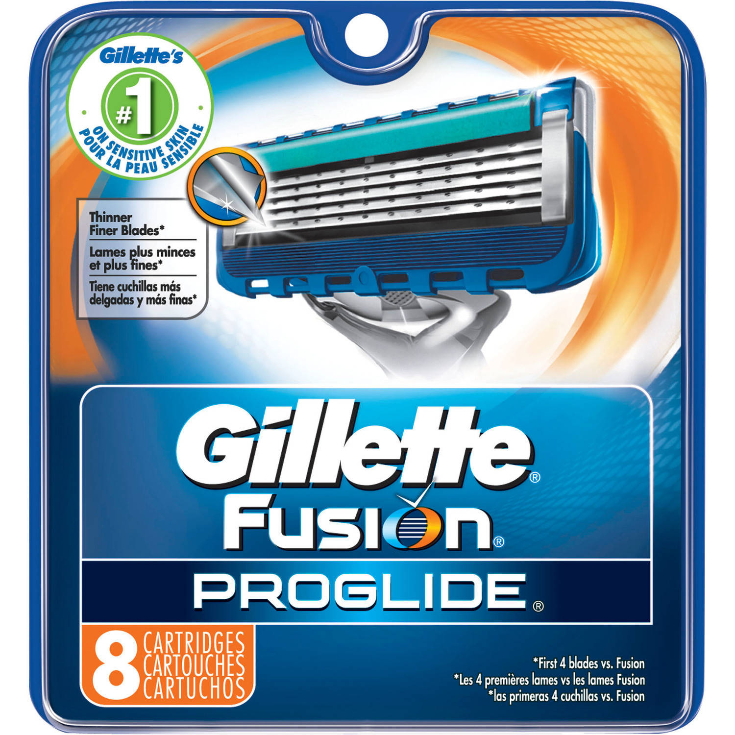 Gillette Fusion ProGlide Razor Cartridge Refills, 8 count