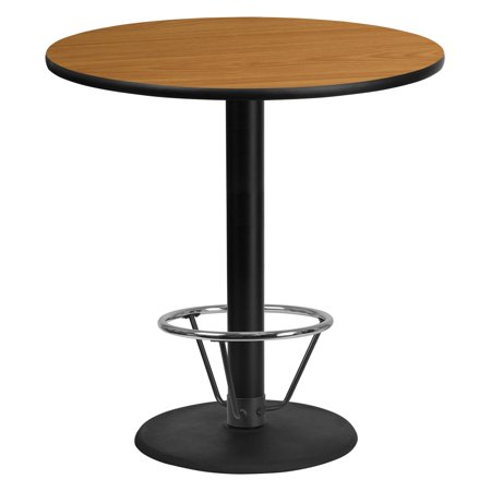 Flash Furniture 42 in. Round Table Top with 24 in. Round Table Base and Foot Ring