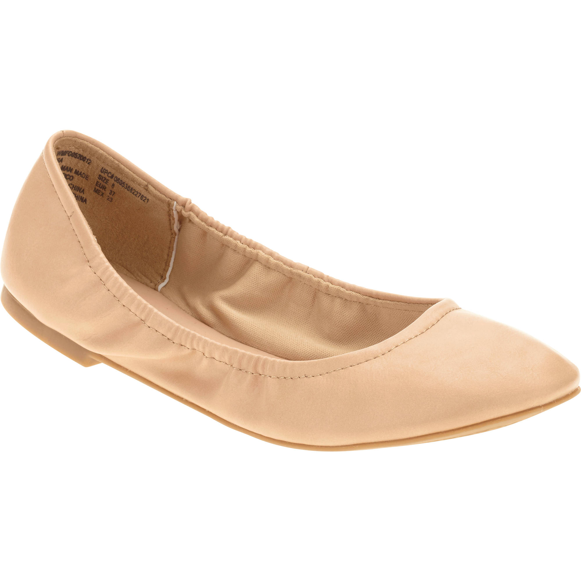 Faded Glory Women S Scrunch Ballet Flat Walmart Com