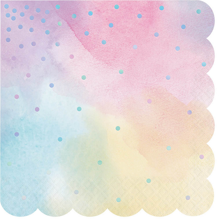 Iridescent Shaped Luncheon Napkin (16)