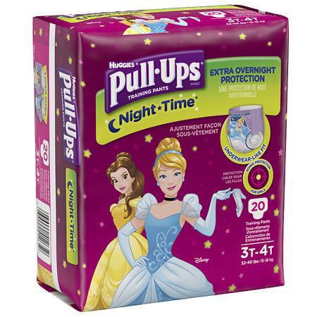 Huggies Pull-Ups Girls' NightTime Training Pants (Pack of 8)