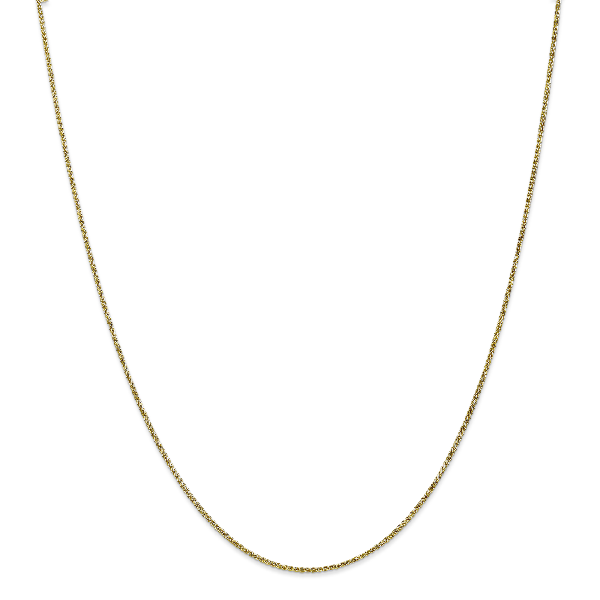 10k Yellow Gold 16in 1.20mm Wheat Necklace Chain