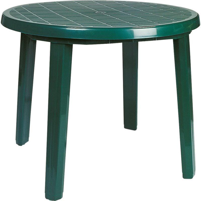 Atlin Designs 35 5 Round Resin Patio Dining Table In Green Walmart Com Walmart Com