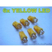 SmallAutoParts Yellow T10 Led Bulbs - Set Of 6