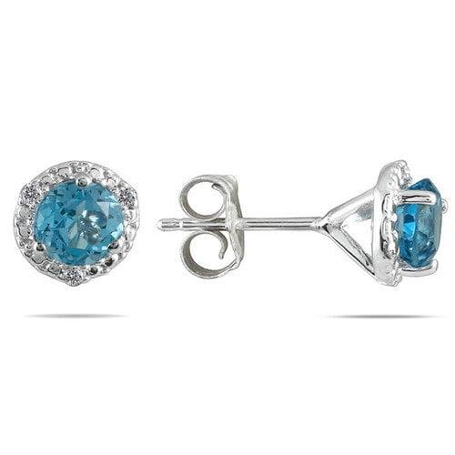 Szul Jewelry Round Cut Gemstone Stud Earrings