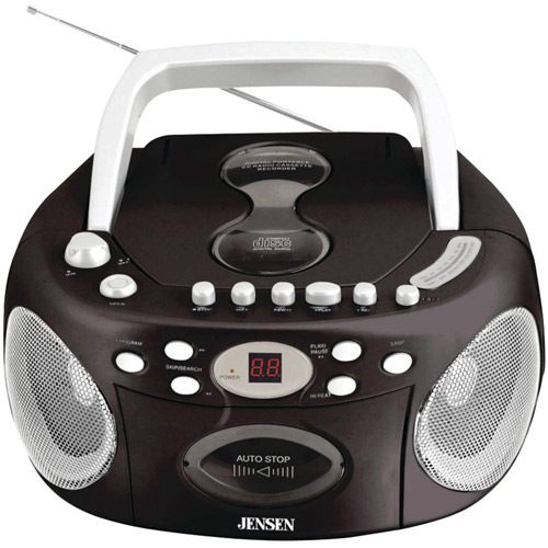 Jensen CD-540 Portable Stereo Compact Disc Cassette Recorder with AM FM Radio by Jensen