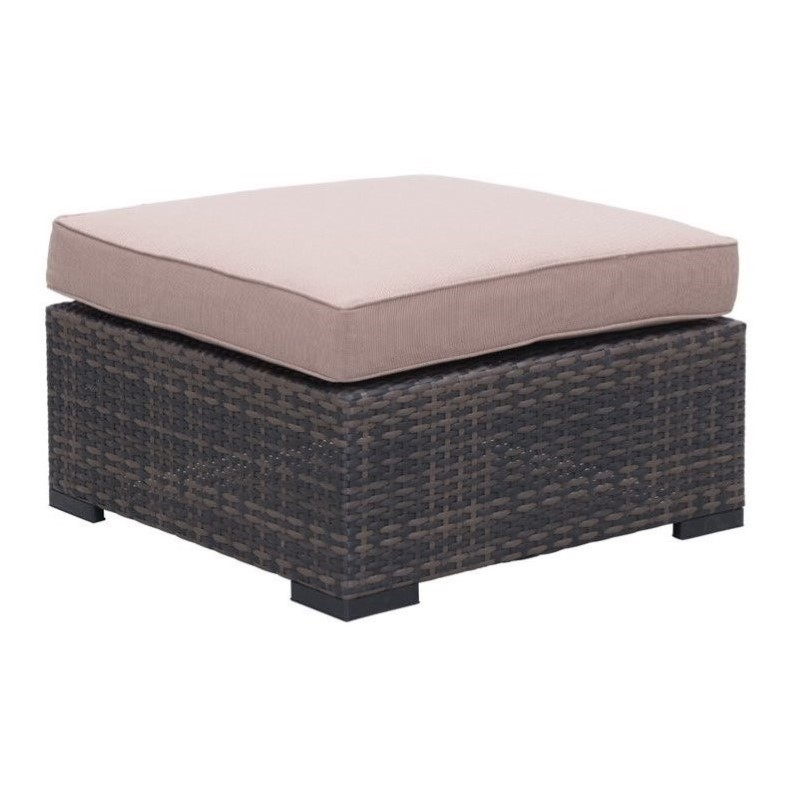 Zuo Bocagrande Outdoor Ottoman in Brown