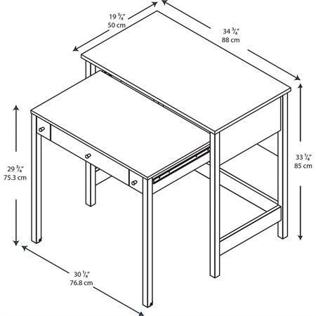 Bush Furniture Brandywine Pull Out Computer Desk in Porter - image 7 of 8