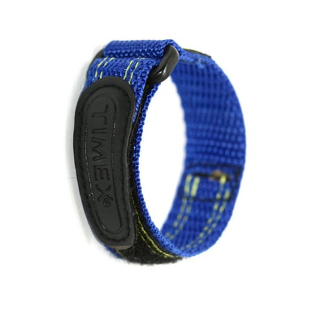 TIMEX 12-16MM BRIGHT BLUE HOOK & LOOP FAST WRAP REPLACEMENT WATCH BAND STRAP ()