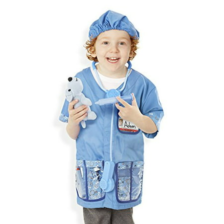 Melissa & Doug Veterinarian Role Play Costume Dress-Up Set (9 pcs) - Child Veterinarian Costume