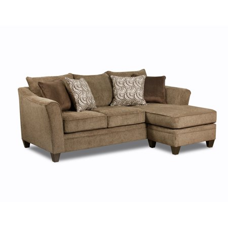 Simmons upholstery albany sofa chaise for Albany saturn sectional sofa chaise