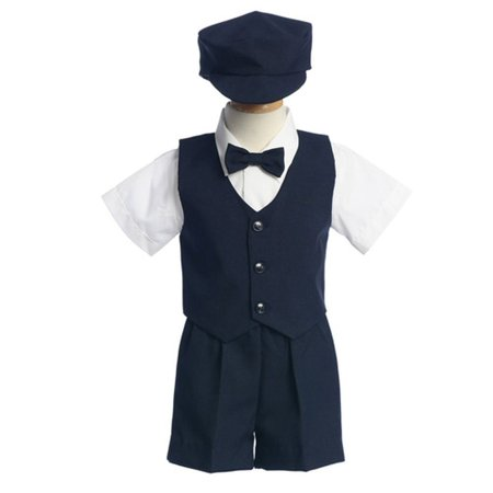 Boys Navy Vest Shorts Easter Ring Bearer Formal Wear Suit 12M-4T (Ring Bearer Suit)