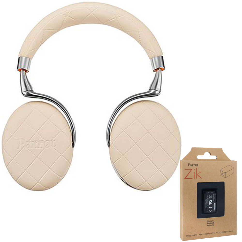 Parrot Zik 3 Wireless Noise Cancelling Bluetooth Headphones (Ivory Overstitched)