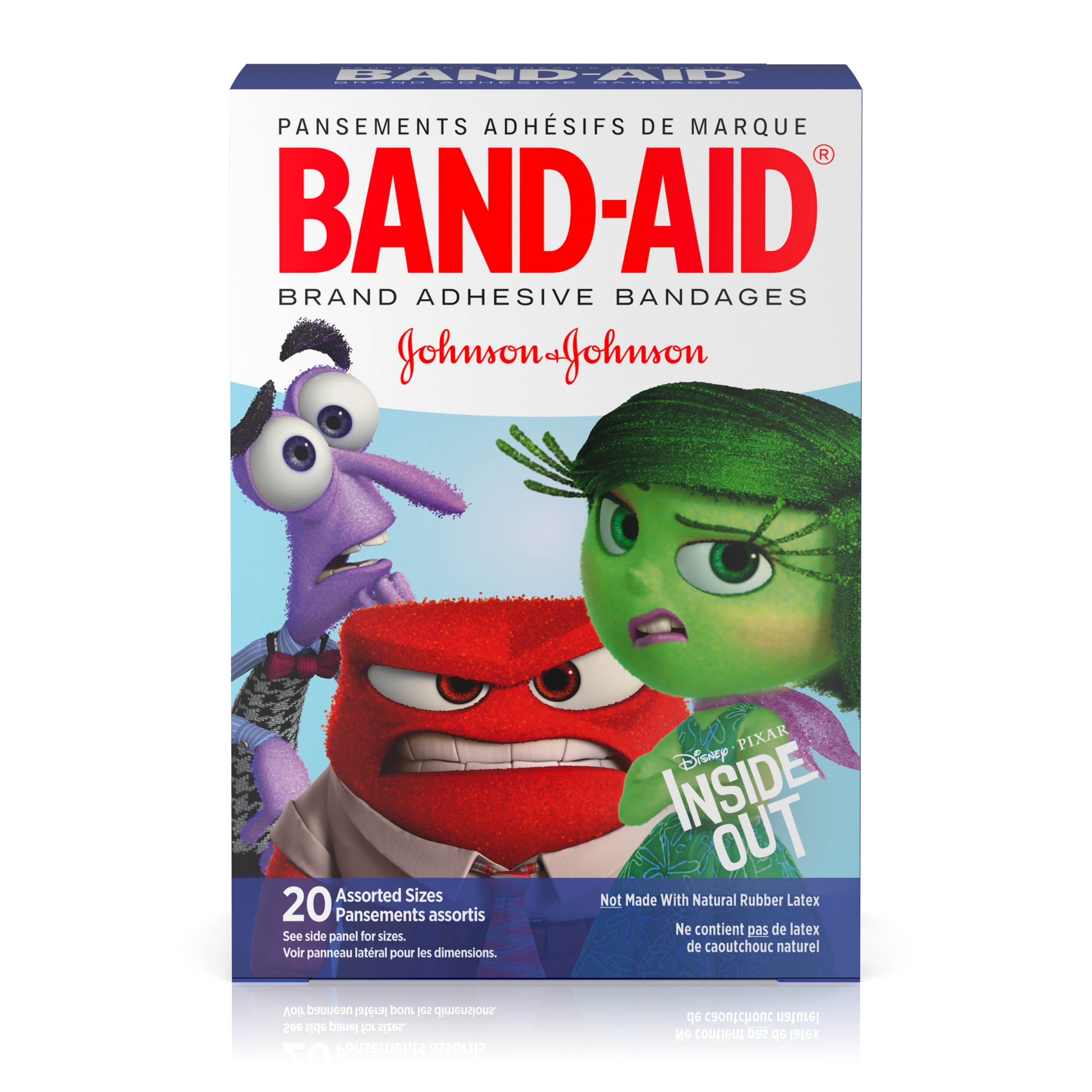 Band-Aid Bandages, Disney/Pixar Inside Out, Assorted Sizes 20 ct