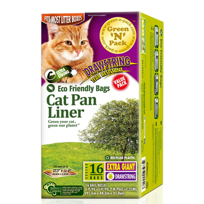 Eco-Friendly Bags Cat Litter Pan Line Roasted - 16 Pack