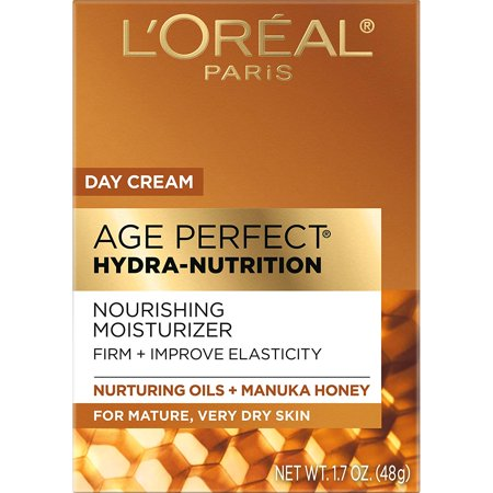 L'Oreal Paris Age Perfect Hydra Nutrition Day Cream with Manuka Honey Extract and Nurturing Oils, Paraben Free, 1.7