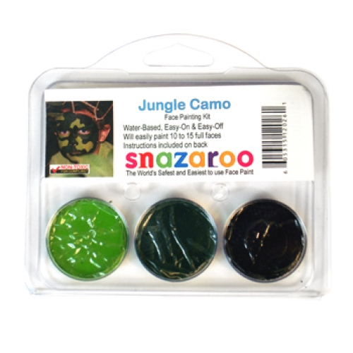 Snazaroo Theme Packs - Jungle Camo (3 Colors)