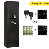 Ktaxon Upgrated Electronic 5 Rifle Gun Safe Large Firearms Shotgun Storage Cabinet with Small Lock Box