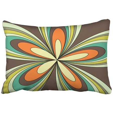 ARTJIA 70s Retro Spring Hippie Flower Power Pillowcase Cushion Cover 20x30 inch](70s Flower Power Fashion)