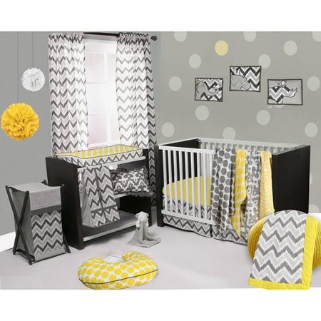 Bacati Ikat 6 Piece Crib Bedding Set ()
