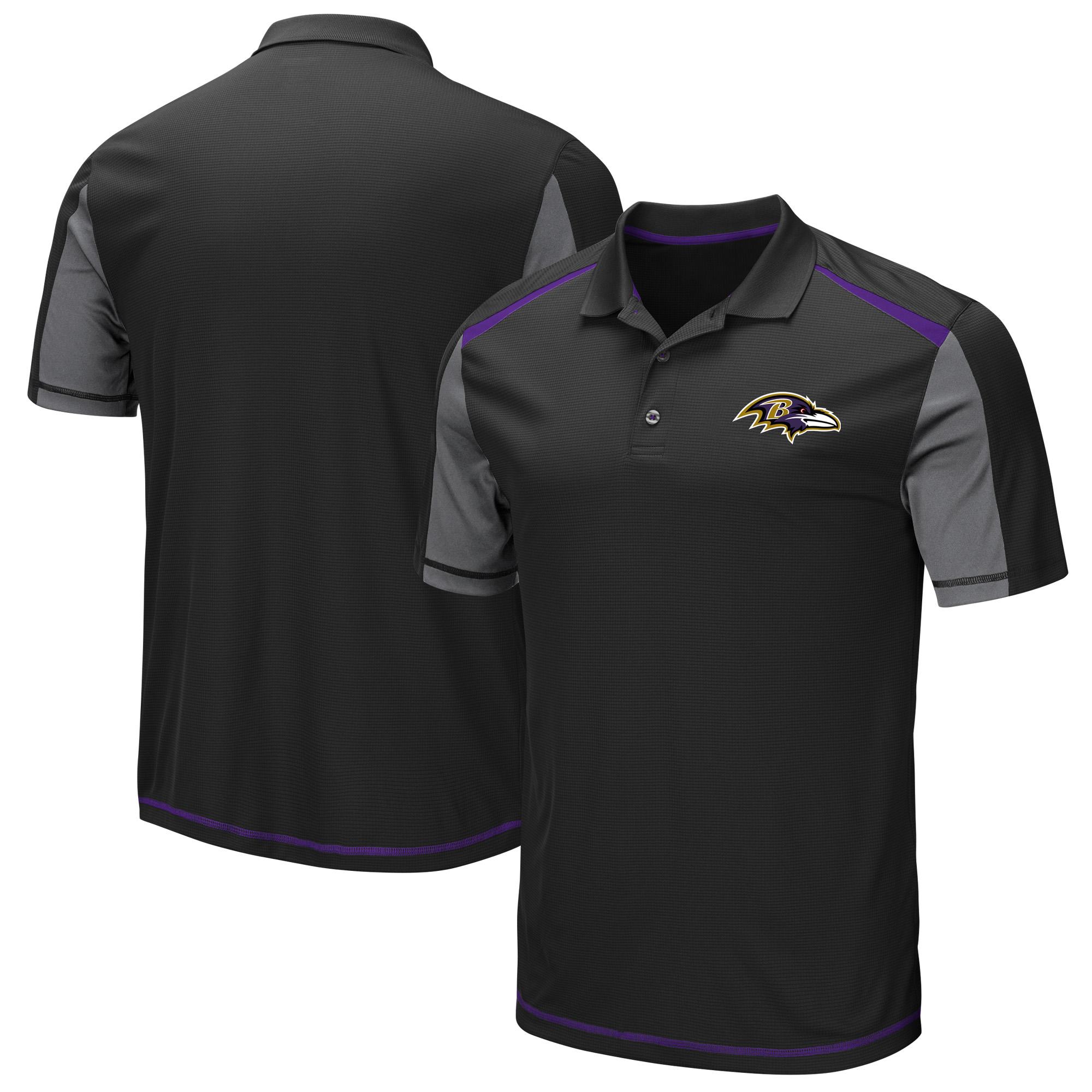 Baltimore Ravens Majestic Draft Prize Polo - Black