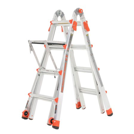 Little Giant Velocity 17 Foot Aluminum Adjustable Folding Ladder & Work (Little Giant Chalk)