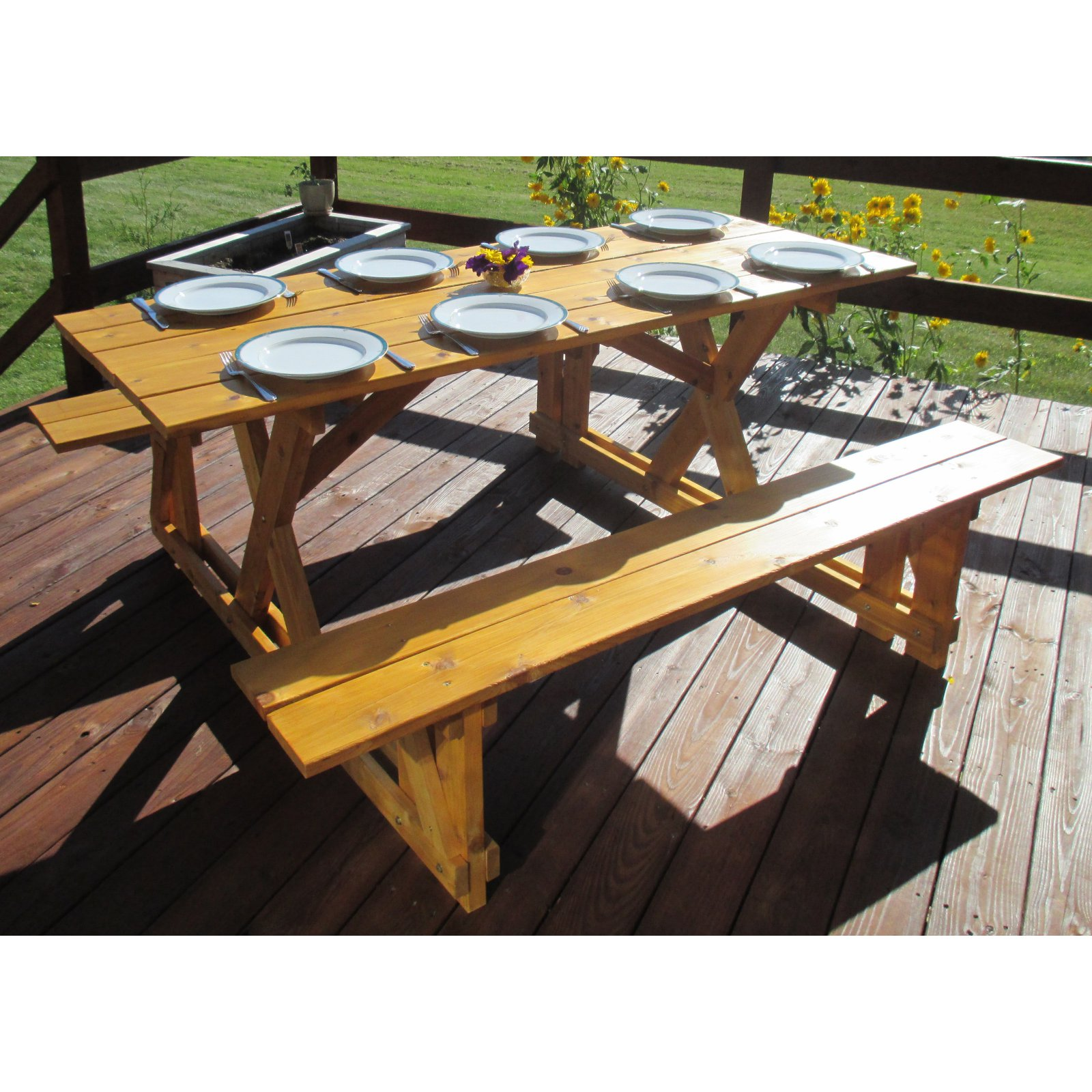 Elegant Infinite Cedar EZ Access Cedar Picnic Table