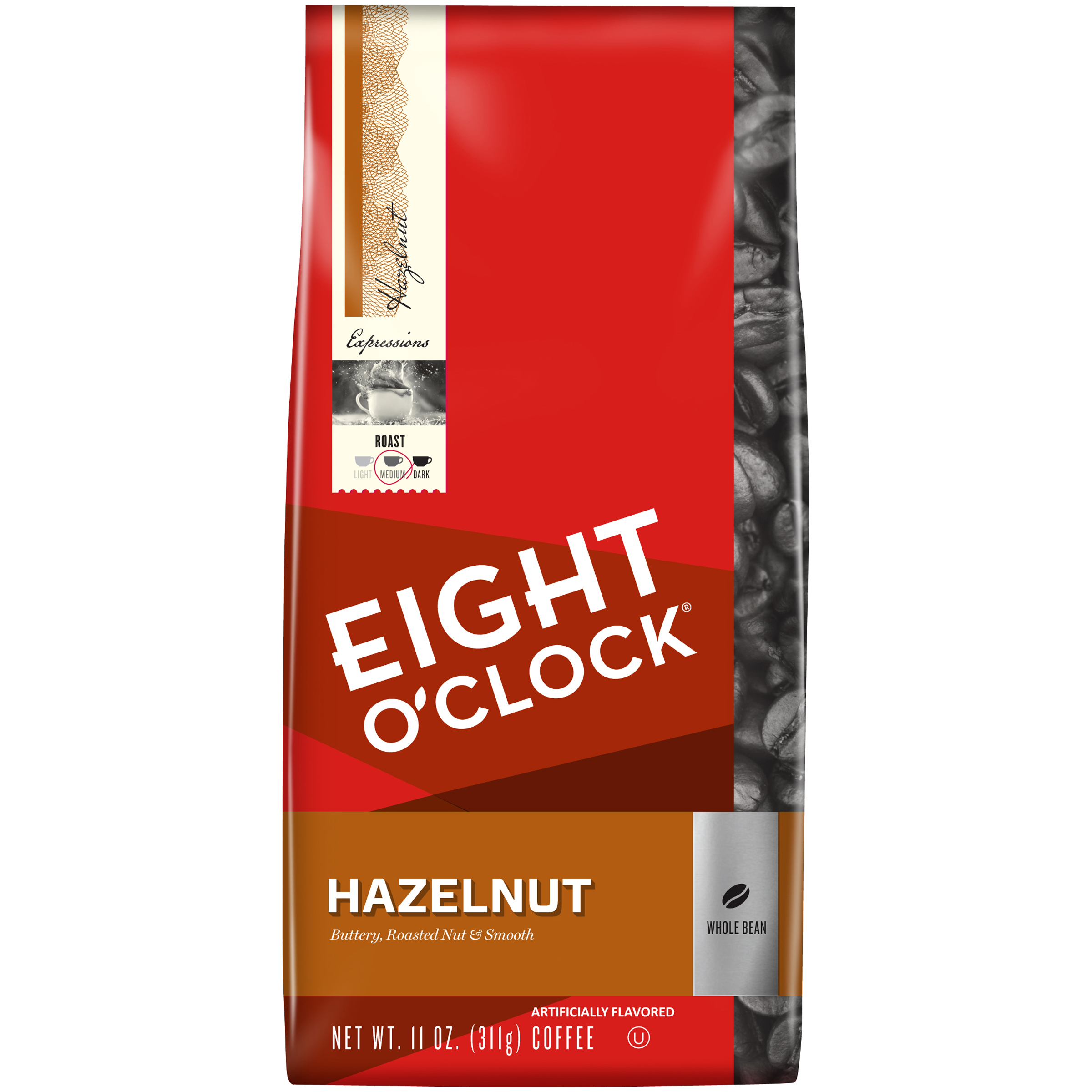 Eight O'Clock® Hazelnut Whole Bean Coffee 11 oz. Bag