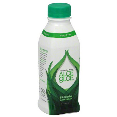 Image of Aloe Gloe Natural Aloe Water, 15.2 fl oz, (Pack of 12)