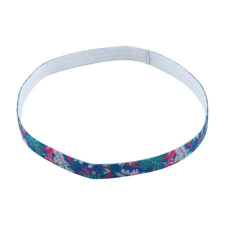 Training Silicone Flower Printed Non-slip Strech Sports Headband #1