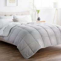 Brookside Chambray 3-Piece Reversible Comforter Set, Queen, Coastal Grey