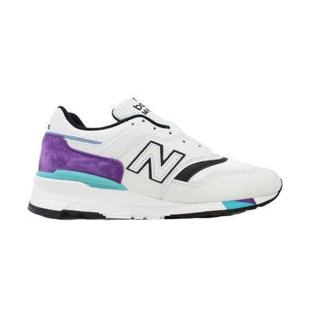 NEW BALANCE 997 MADE IN THE USA WHITE PURPLE BLACK TEAL