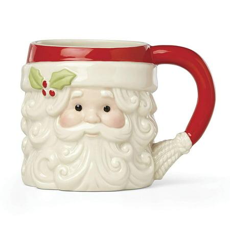 Hosting the Holidays™ Santa Figural Mug by Lenox (Holiday Figurals)