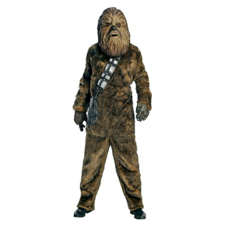 Star Wars Mens Dlx. Chewbacca Halloween Costume (Chewbacca Costume Rental)