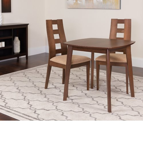 Winston Porter Hults 3 Piece Solid Wood Dining Set