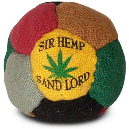 Hemp Hacky Sack Footbag Sir Hemp sand-filled ()