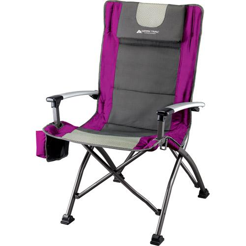 ozark trail high back chair with head rest, fuchsia - walmart