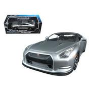 "Brian's Nissan GTR R35 Silver Fast & Furious 7"" Movie 1/18 Diecast Model Car by Jada"""