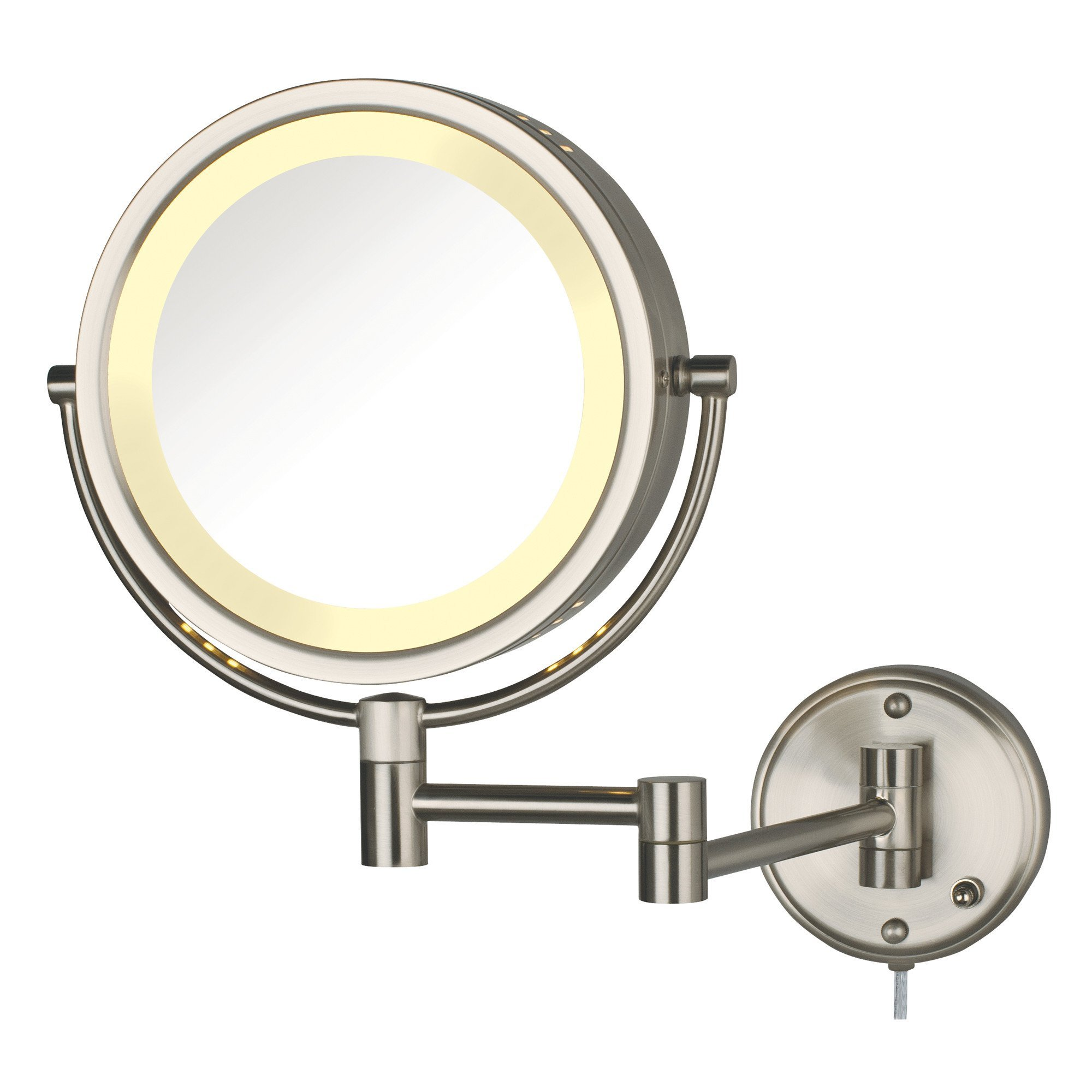 8X-1X Lighted Wall Mirror