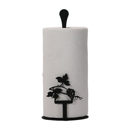 village wrought iron grapevine paper towel stand