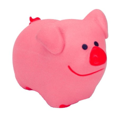 (Coastal Pet Products Lil Pals 83204 PIGDOG Latex Pig Dog Toy, 3 Inch)