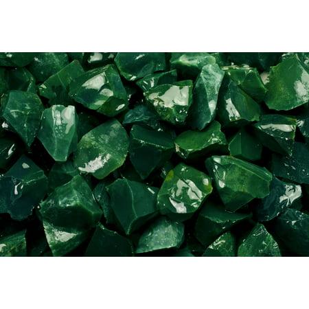 Fantasia Crystal Vault: 1/2 lb Green Jasper Rough Stones from Asia - Large 1
