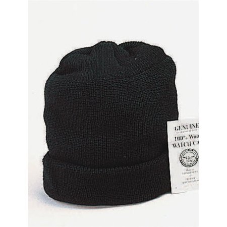 Genuine U.S. Navy 100% Wool Watch Cap, Black, Blue, OD