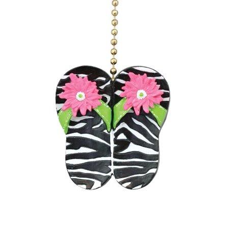 Fun Animal Zebra Print Flip Flop Sandals Ceiling Fan Light