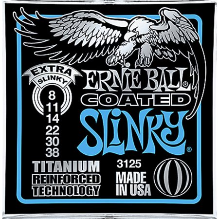Ernie Ball 3125 Coated Titanium Extra Slinky Electric Guitar Strings (8-38)