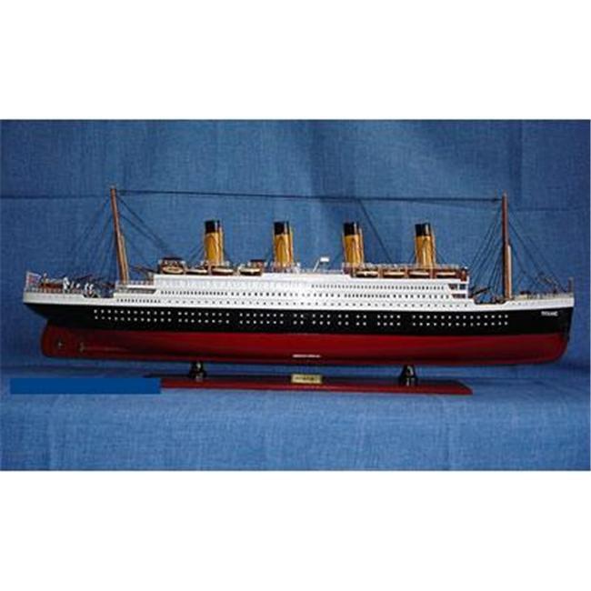 Old Modern Handicrafts C012 Titanic Painted L Model Boat by Old Modern Handicrafts