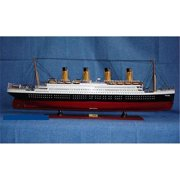 Old Modern Handicrafts C012 Titanic Painted L Model Boat