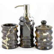 Nature Home Decor Bengal Michelangelo Marble 3-Piece Bathroom Accessory Set