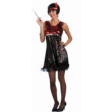 Womens 6-12 Roaring 20s Razzle Dazzle Flapper Costume