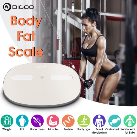Digoo Body Fat Weight Bathroom Scale LED Digital Smart bluetooth Phone APP Auto-sync Health & Personal Care Health Gym Analyse ()